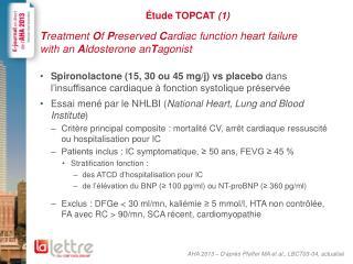 Étude TOPCAT  (1)