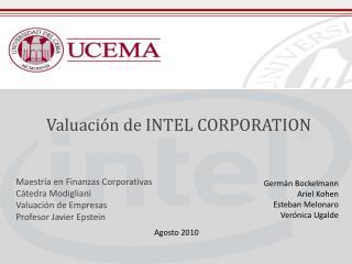 Valuación de INTEL  CORPORATION