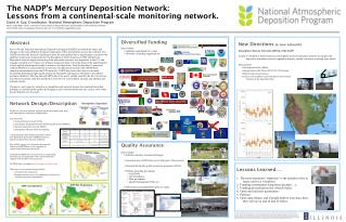 The NADP's Mercury Deposition Network:  Lessons from a continental-scale monitoring network.