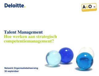 Talent Management Hoe werken aan strategisch  competentiemanagement?