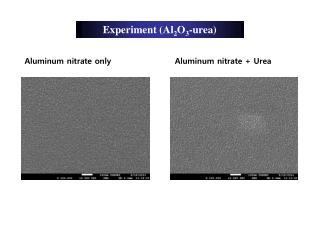 Experiment (Al 2 O 3 -urea)