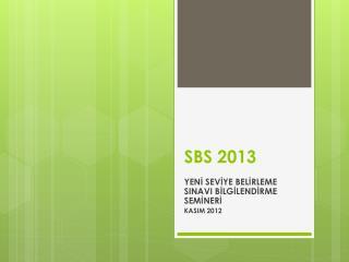 SBS 2013