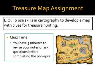 Treasure Map Assignment