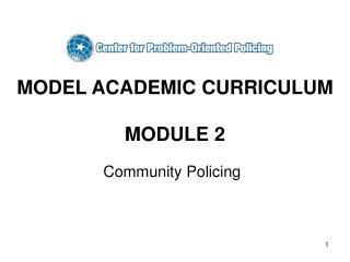 MODEL ACADEMIC CURRICULUM  MODULE 2
