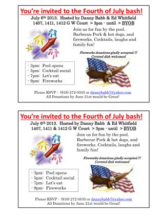 You're invited to the Fourth of July bash!