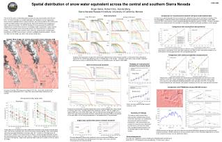 Spatial distribution of snow water equivalent across the central and southern Sierra Nevada