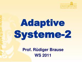 Adaptive Systeme-2