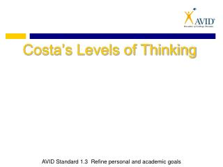 Costa�s Levels of Thinking