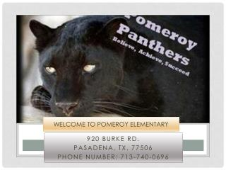 Welcome to Pomeroy Elementary