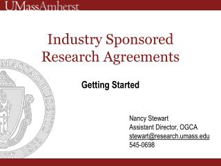 Industry Sponsored Research Agreements