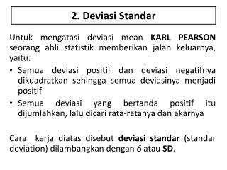 2.  Deviasi Standar