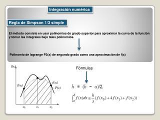 Regla de Simpson 1/3 simple