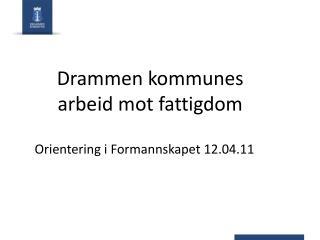 Drammen kommunes arbeid mot fattigdom