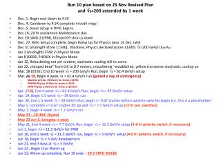 Run 10 plan based on 25 Nov Revised Plan and  s=200 extended by 1 week