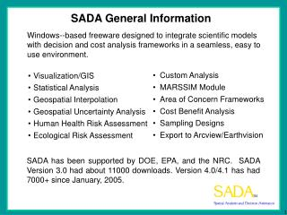 SADA General Information