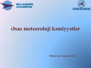 Əsas meteoroloji kəmiyyətlər