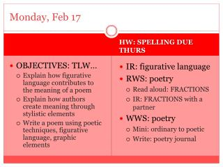 Monday, Feb 17
