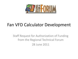 Fan VFD Calculator Development