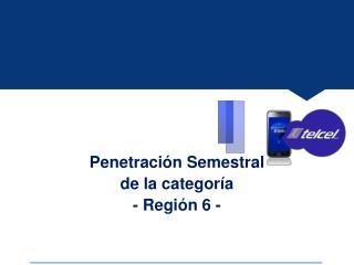 Penetración  Semestral  de  la  categoría - Región 6 -