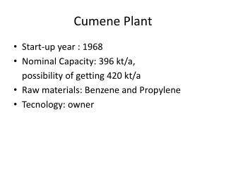 Cumene Plant
