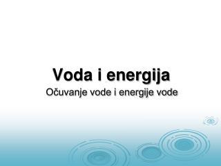 Voda i energija