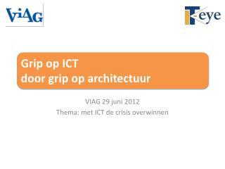 Grip op ICT  door grip op architectuur