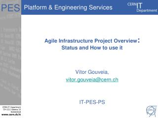 Agile Infrastructure Project Overview : Status and How to use it