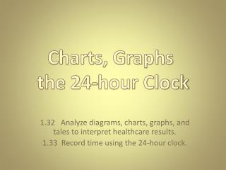 1.32   Analyze diagrams, charts, graphs, and tales to interpret healthcare results.