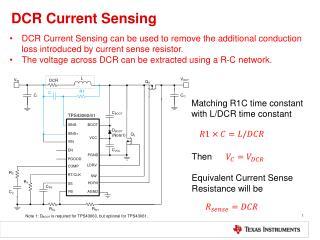 DCR Current Sensing