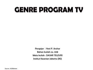 GENRE PROGRAM TV