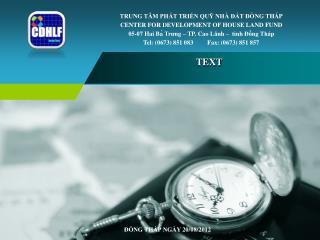 ĐỒNG THÁP NGÀY  20 / 08 /2012