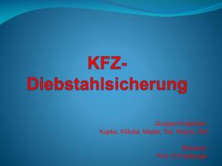 KFZ-Diebstahlsicherung