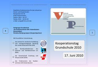 - Staatliches Studienseminar für das Lehramt an Grund- und Hauptschulen Kaiserslautern -