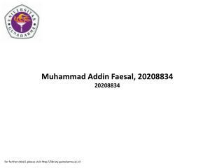 Muhammad Addin Faesal, 20208834 20208834