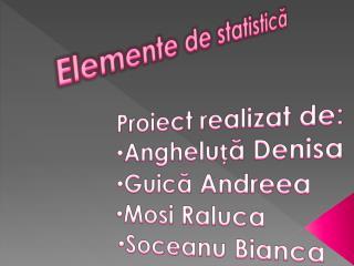 Elemente de statistică