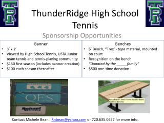 ThunderRidge  High School Tennis