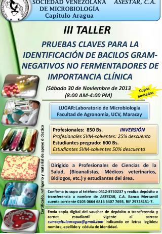 SOCIEDAD VENEZOLANA DE MICROBIOLOGÍA Capitulo Aragua