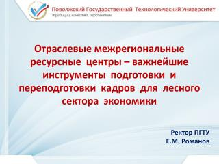 Ректор  ПГТУ Е.М. Романов