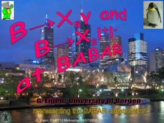 B ?X s ?  and B ? X s l + l - at BABAR