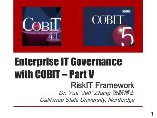 Enterprise IT Governance with  COBIT – Part V