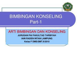 BIMBINGAN KONSELING Part-1