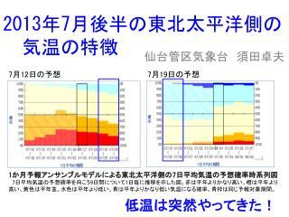 2013 年 7 月後半の東北太平洋側の 気温の特徴