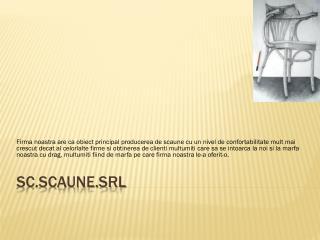 sc.Scaune.SRL