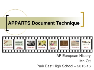 APPARTS Primary Document Analysis