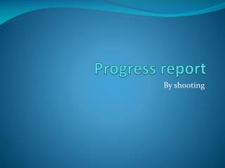 Progress report
