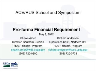 ACE/RUS School and Symposium
