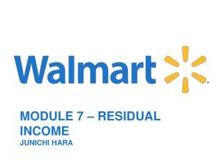 Module  7  –  Residual Income Junichi Hara