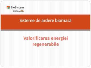 Valorificarea energiei regenerabile