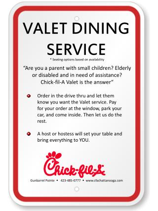 VALET DINING SERVICE