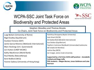 WCPA-SSC Joint Task Force on Biodiversity and Protected Areas